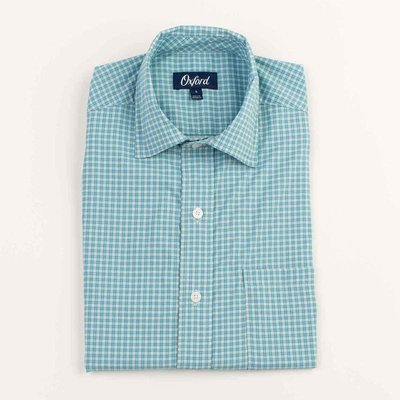 Oxford Clothing Co. Oxford Co. Morris Plaid Performance Spread Collar Button Down Shirt