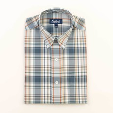Oxford Clothing Co. Oxford Co. Howell Plaid Button Down (Blue Fog)