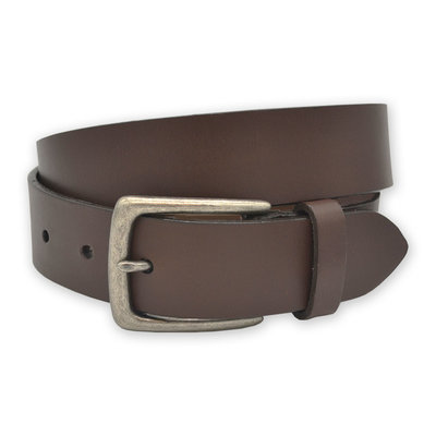The Sporting Gent TSG Harness Leather Belt (Brown/Antique Silver)