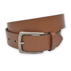 The Sporting Gent TSG Harness Leather Belt (Cognac/Antique Silver)