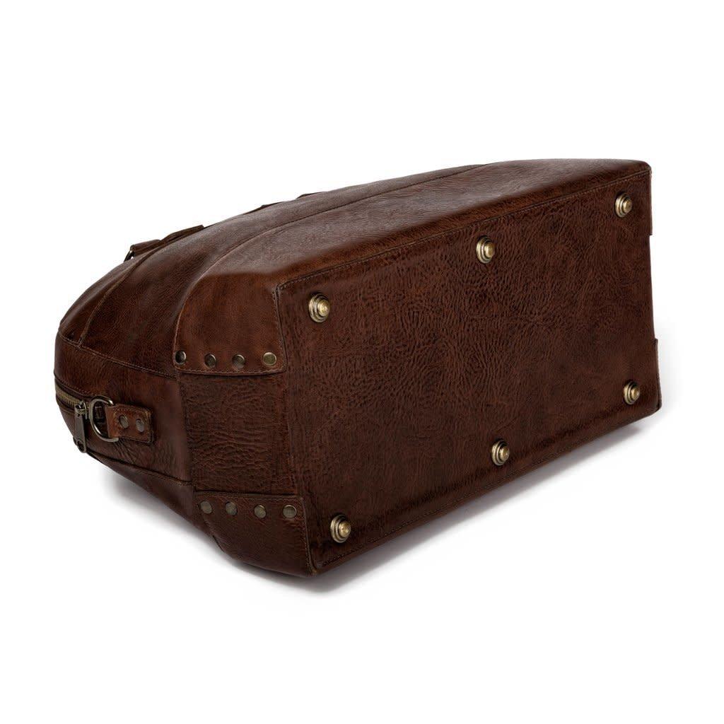 Mission Mercantile MM Heritage Leather Stateroom Weekender (Smoke)