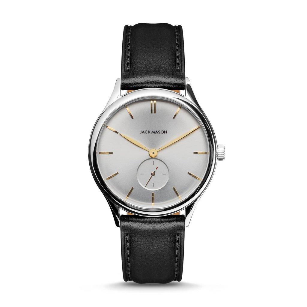 Jack Mason Jack Mason Ellum Watch  (White Dial w/ Black Leather)