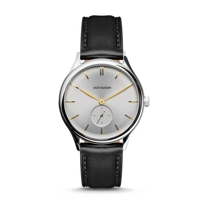Jack Mason Jack Mason Ellum Watch  (White Dial w/ Black Leather)