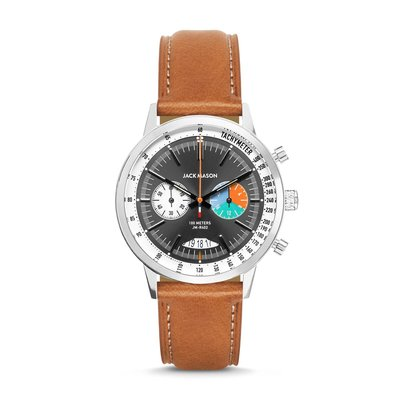 Jack Mason Jack Mason Racing Chronograph 40mm (Grey Dial w/ Tan Leather)