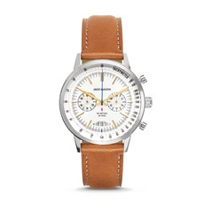Jack Mason Jack Mason Racing Chronograph 40mm (White Dial w/ Tan Leather)