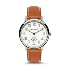 Jack Mason Jack Mason Overland 42 Watch (White Dial w/ Tan Leather)