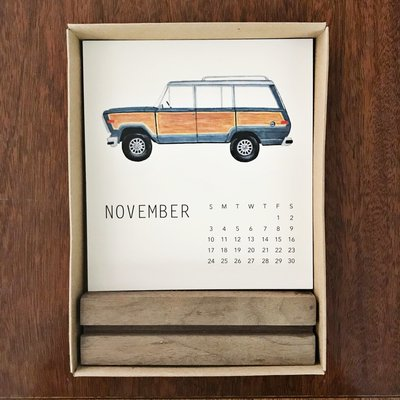 Holly Graham Fine Art Holly Graham Vintage SUV 2020 Calendar