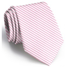 Bird Dog Bay Bird Dog Bay Signature Stripe Necktie (Pink)