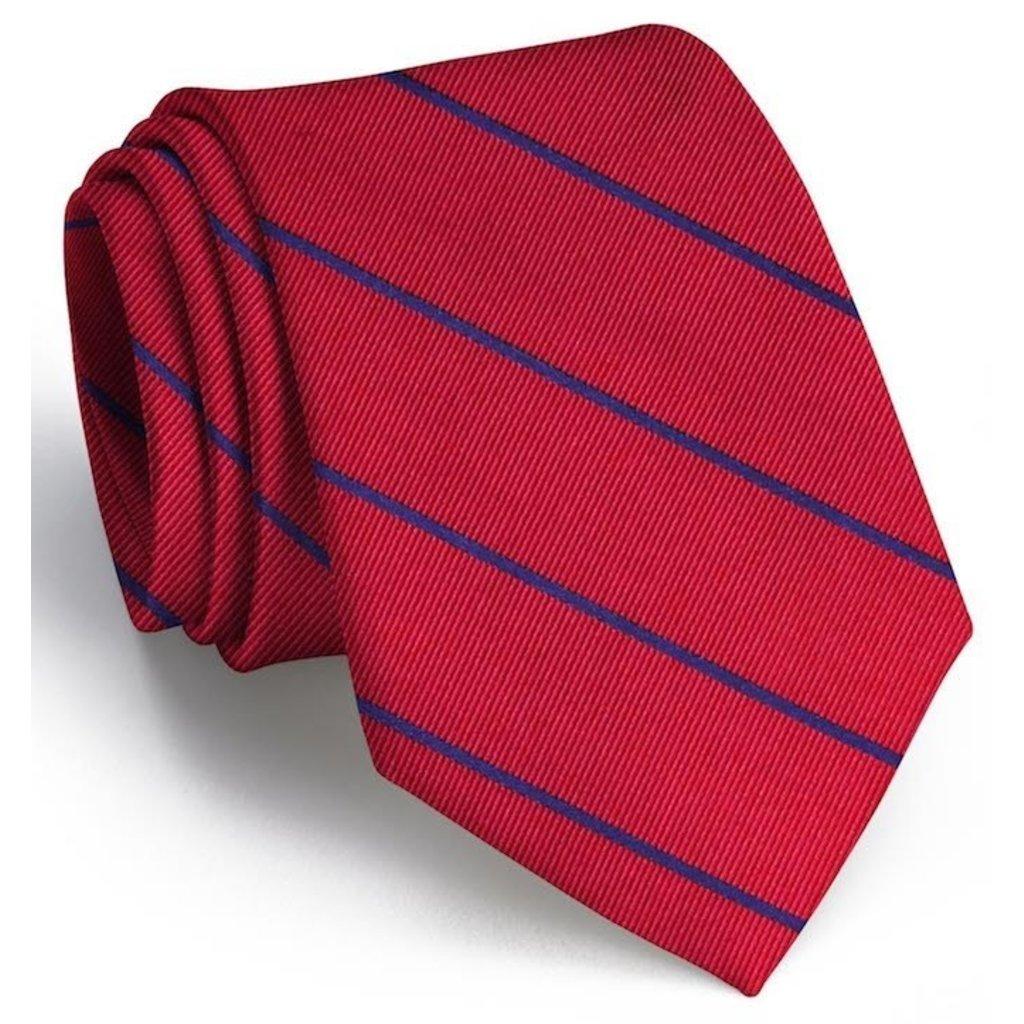 Bird Dog Bay Bird Dog Bay Sheffield Stripe Necktie (Red/Navy)