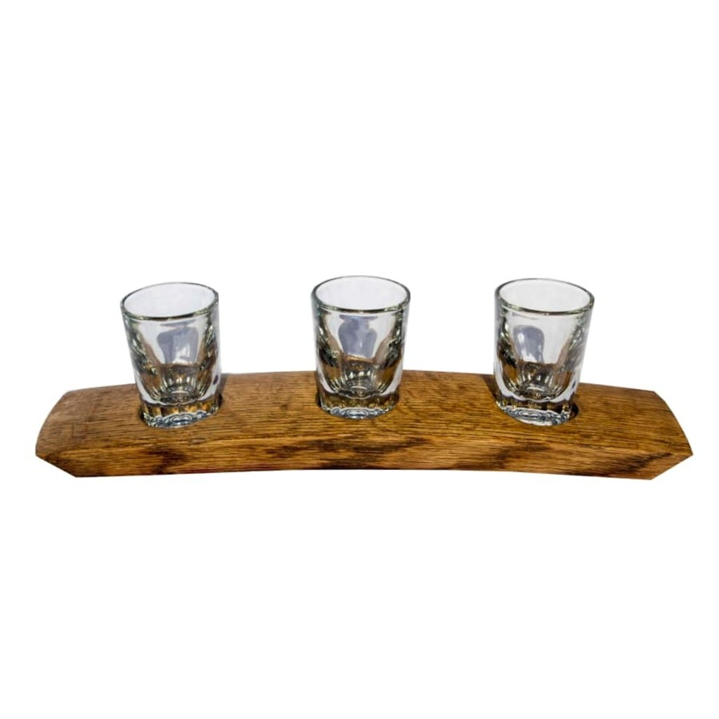 Faire Bourbon Barrel Wood 3 Glass Bourbon Flight