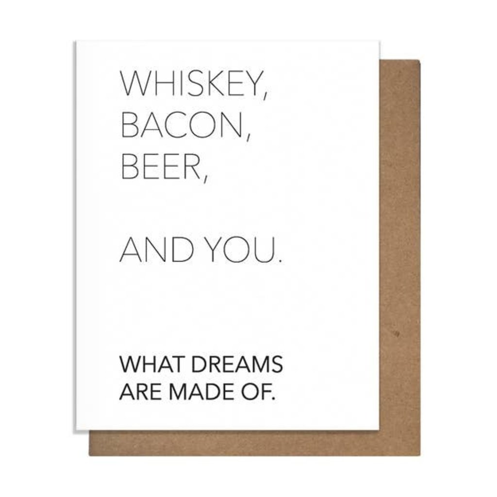 Pretty Alright Goods Pretty Alright Goods Whiskey and You Greeting Card