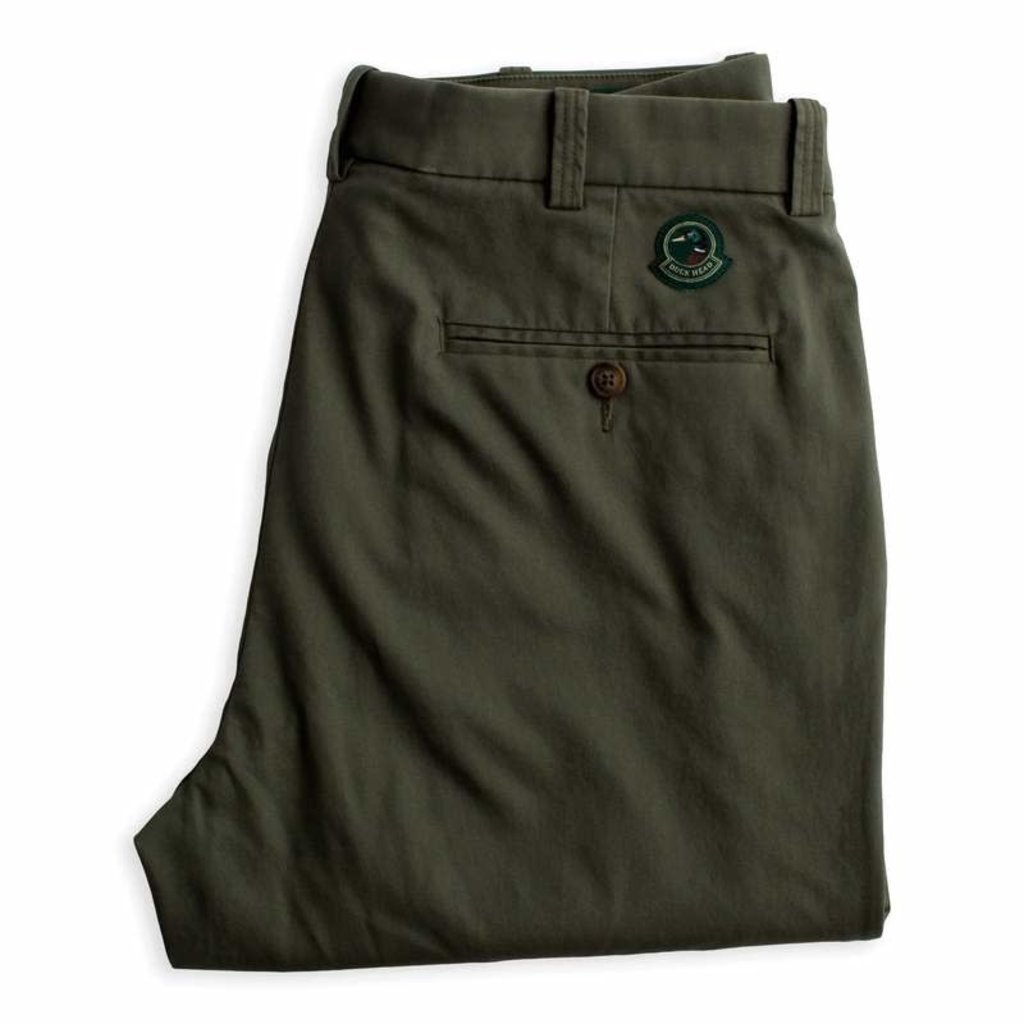 Duck Head Duck Head Green Badge Chino (Thyme Olive)