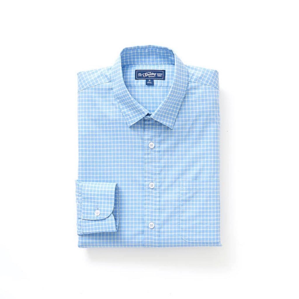 The Sporting Gent TSG Button Down Shirt - Blue & Seagrass