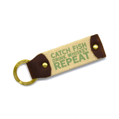 The Sporting Gent TSG Fish and Whiskey Key Fob