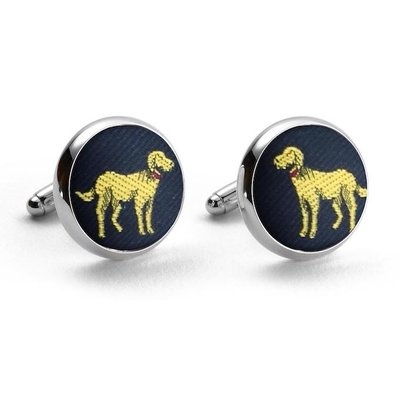 Bird Dog Bay Bird Dog Bay Yellow Lab Cufflinks (Navy)
