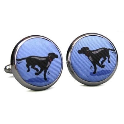 Bird Dog Bay Bird Dog Bay Black Lab Heaven Cufflinks (Light Blue)