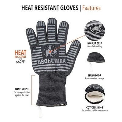The BBQ Butler The BBQ Butler Grilling Glove (Black)