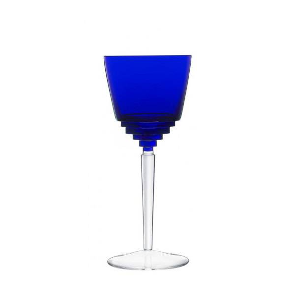 Saint-Louis Oxymore Dark-Blue Hock Wine Glass