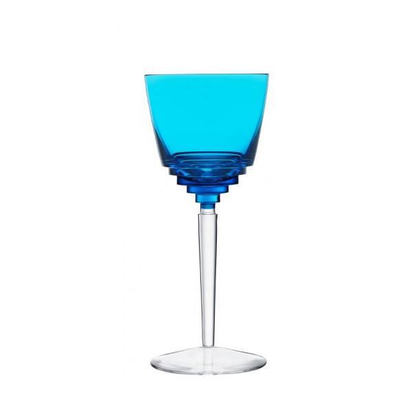 Saint-Louis Oxymore Sky-Blue Hock Wine Glass