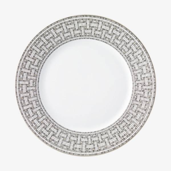 Hermes Mosaique au 24 Platinum Dinner Plate
