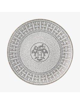 Hermes Mosaique au 24 Platinum Dessert Plate