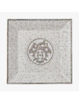 Hermes Mosaique au 24 Platinum Square Plate #3