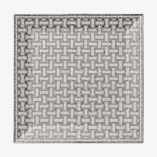 Hermes Mosaique au 24 Platinum Square Plate #4