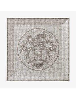 Hermes Mosaique au 24 Platinum Square Plate #5