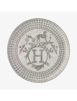 Hermes Mosaique au 24 Platinum Tart platter