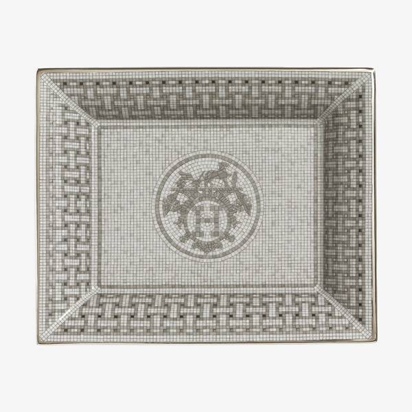 Hermes Mosaique au 24 Platinum Change Tray