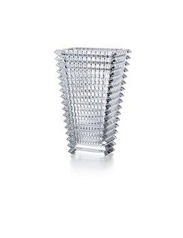Baccarat Eye Vase Small Rectangular Clear