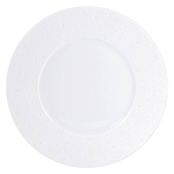 Bernardaud Ecume White Dinner Plate 10.5 In