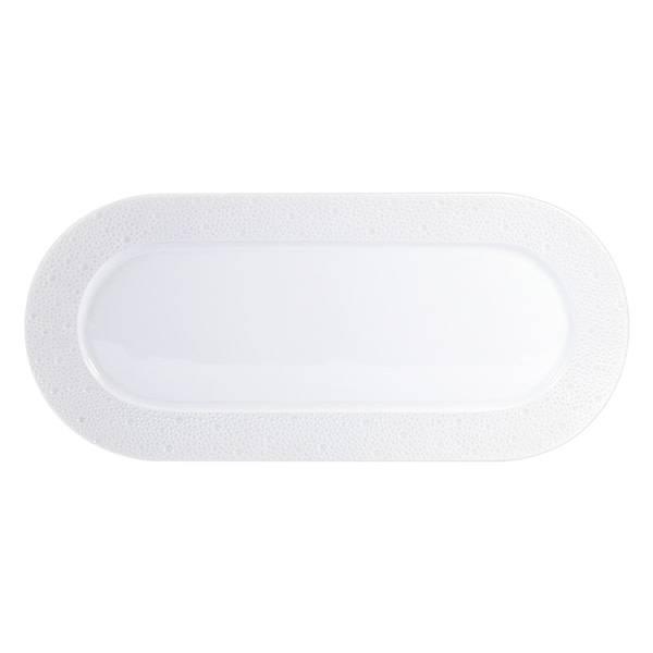 Bernardaud Ecume White Cake Platter Rectangular 15 In