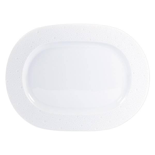 Bernardaud Ecume White Oval Platter 12 In