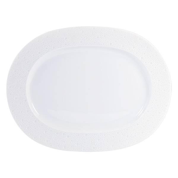 Bernardaud Ecume White Oval Platter 13.5 In