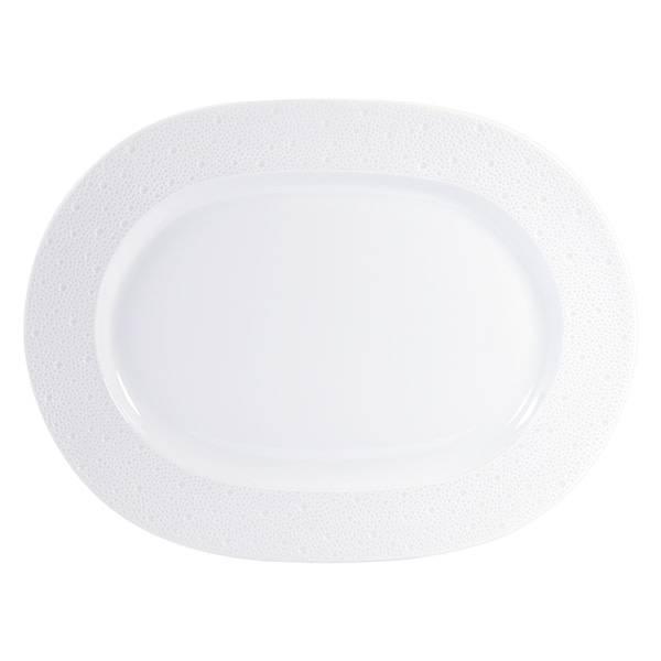 Bernardaud Ecume White Oval Platter 17 In