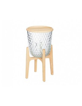 Saint-Louis Folia Clear Ash Side Table