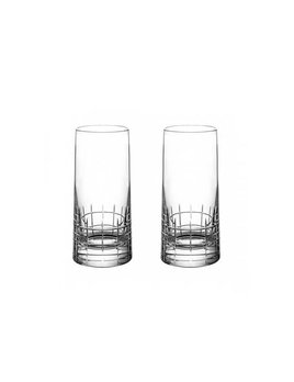 Christofle Graphik Crystal Highball Glass S/2