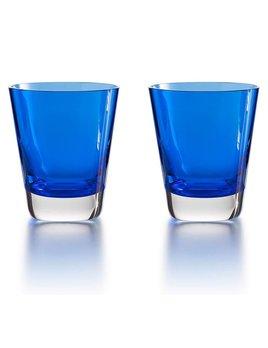 Baccarat Mosaique Tumbler Blue S/2