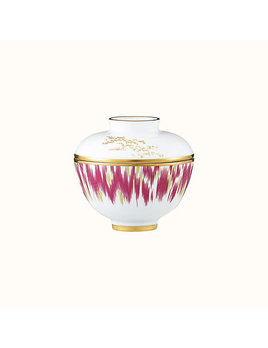 Hermes Voyage en Ikat Small Bowl With Lid