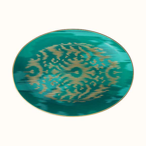 Hermes Voyage en Ikat Oval Platter