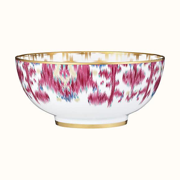 Hermes Voyage en Ikat Large Salad Bowl
