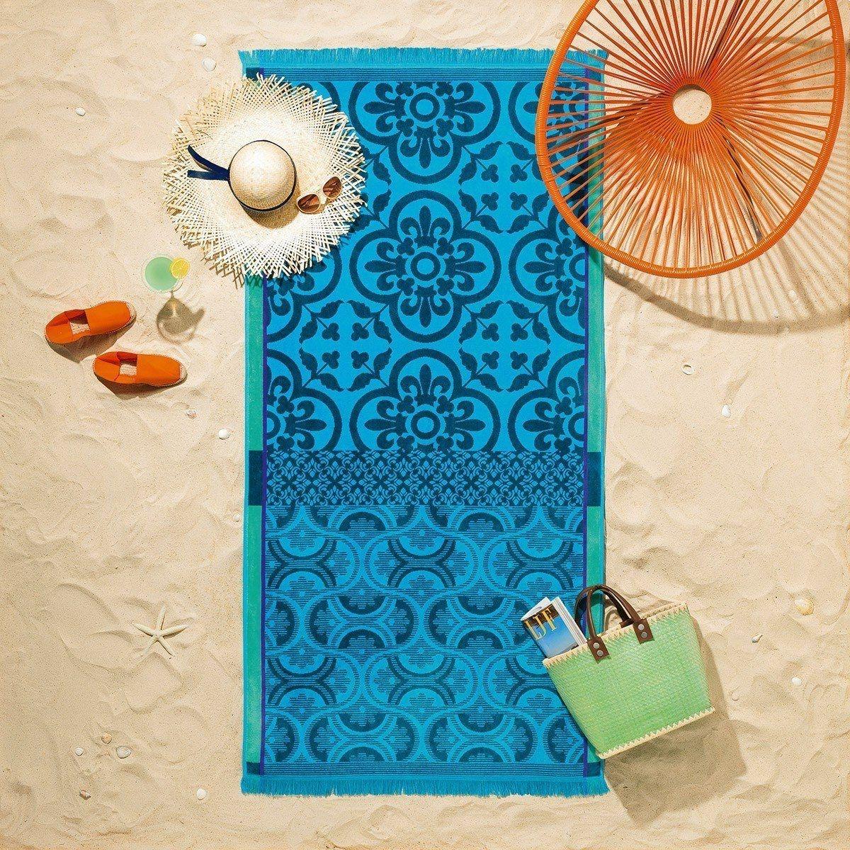 Le Jacquard Francais Santorini Beach Towel