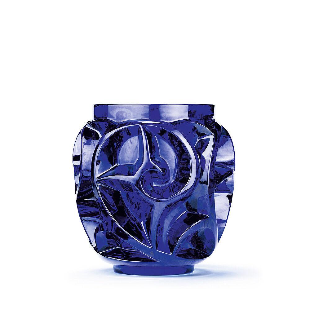 Lalique Tourbillons  Vase Cap Ferrat Blue