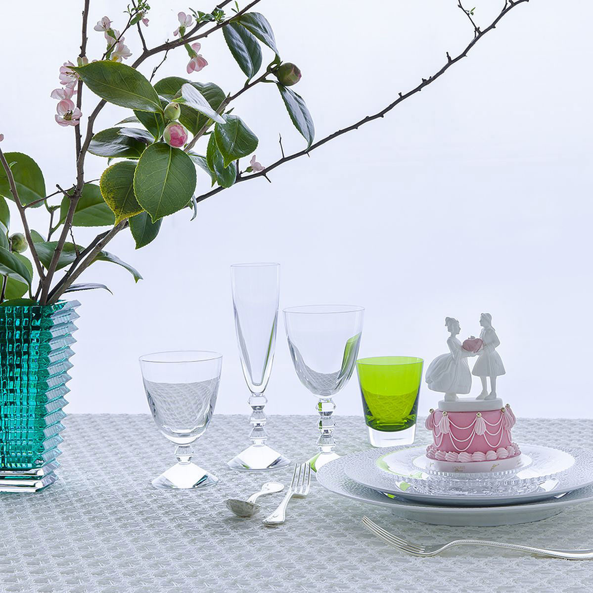 Baccarat Vega Perfect - Champagne, Red Wine, Water Glass  S/3