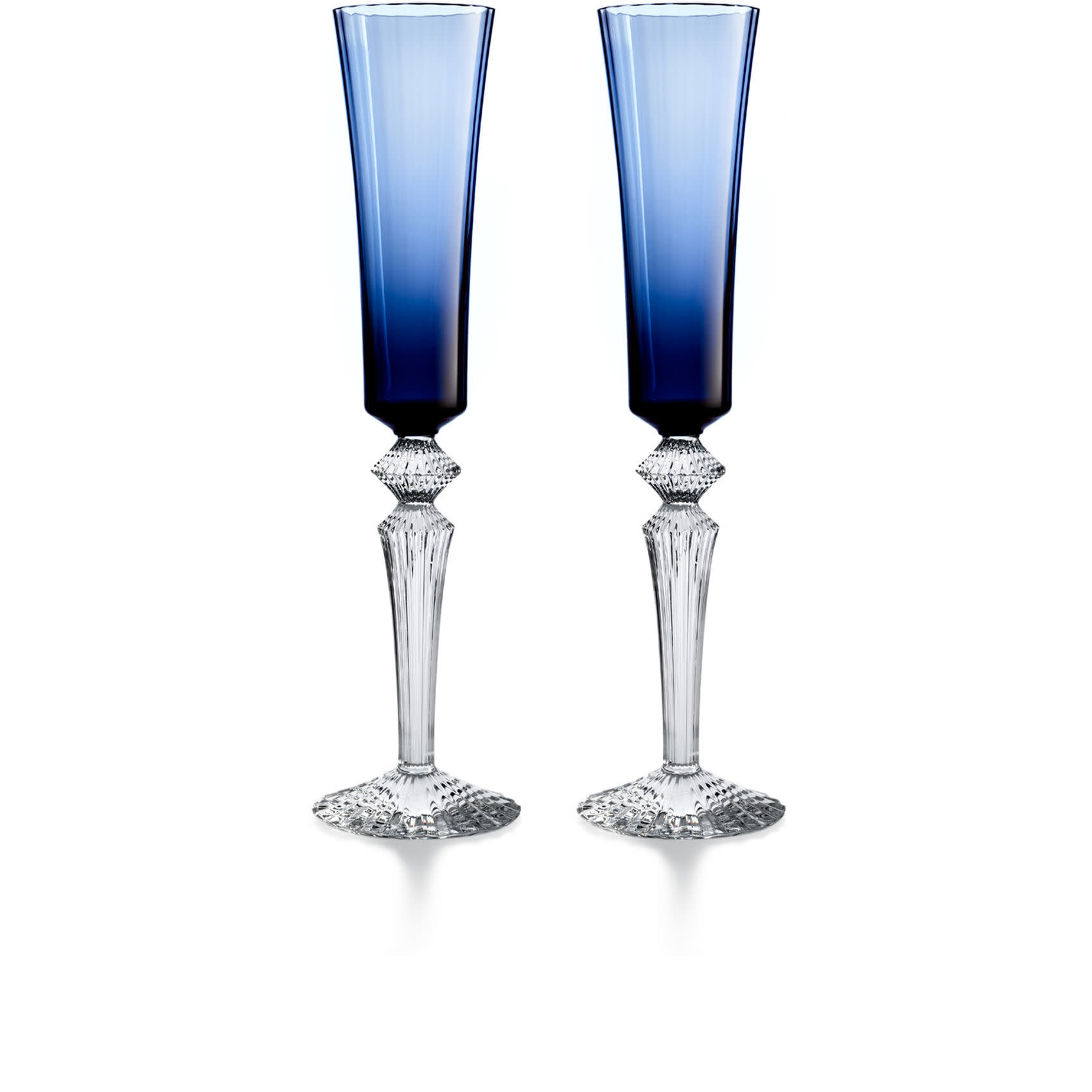 Baccarat Mille Nuits S/2 Flutissimo Midnight Blue