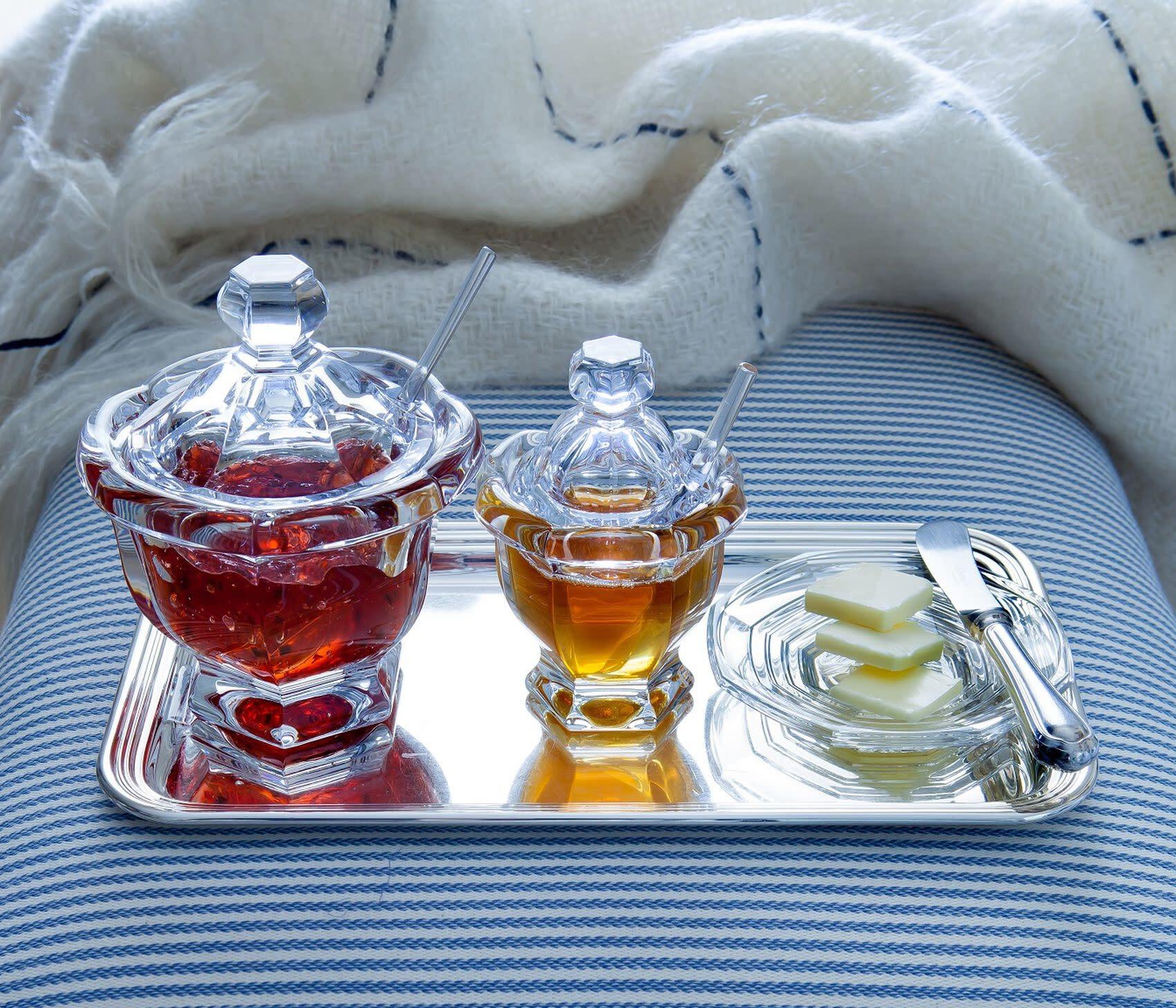 Baccarat Harcourt Mustard Jar