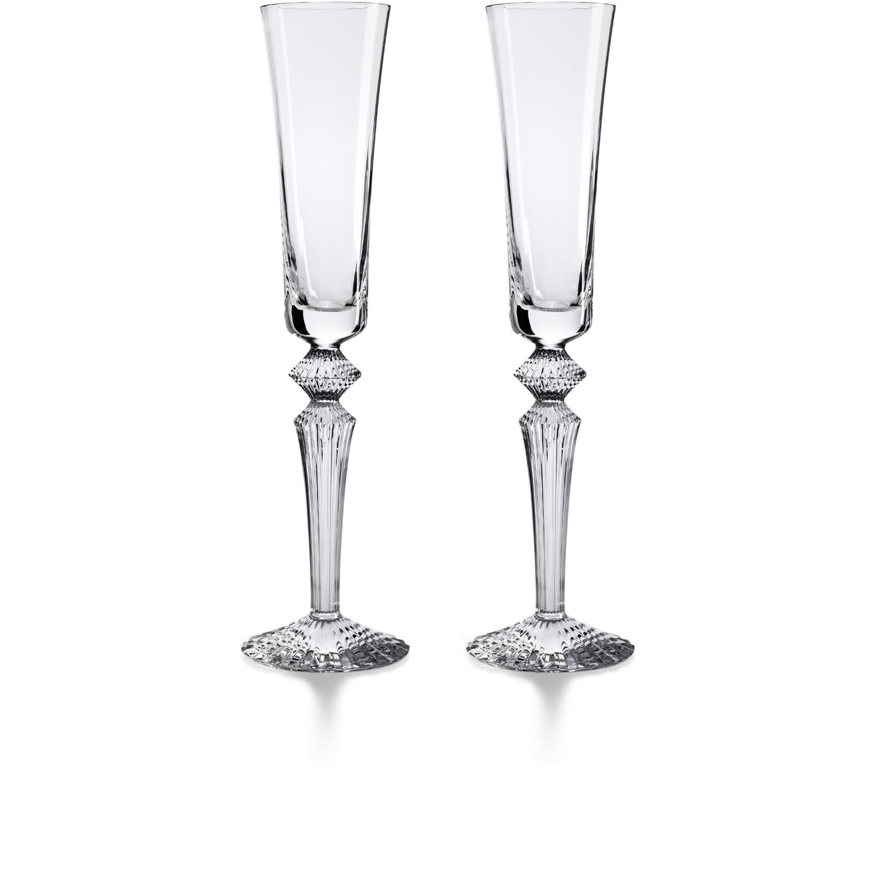 Baccarat Mille Nuits Flutissimo Clear S/2