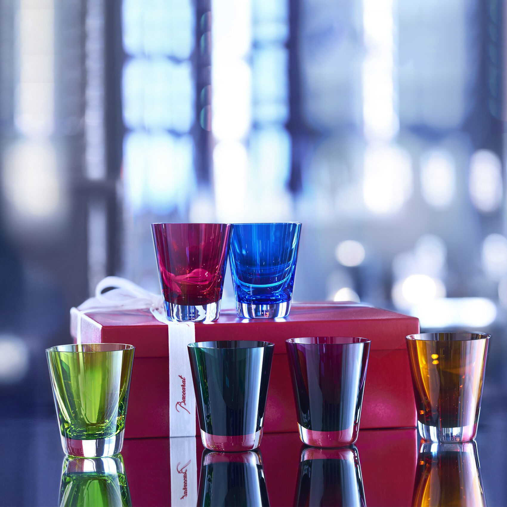 Baccarat Mosaique Tumblers Boxed S/6