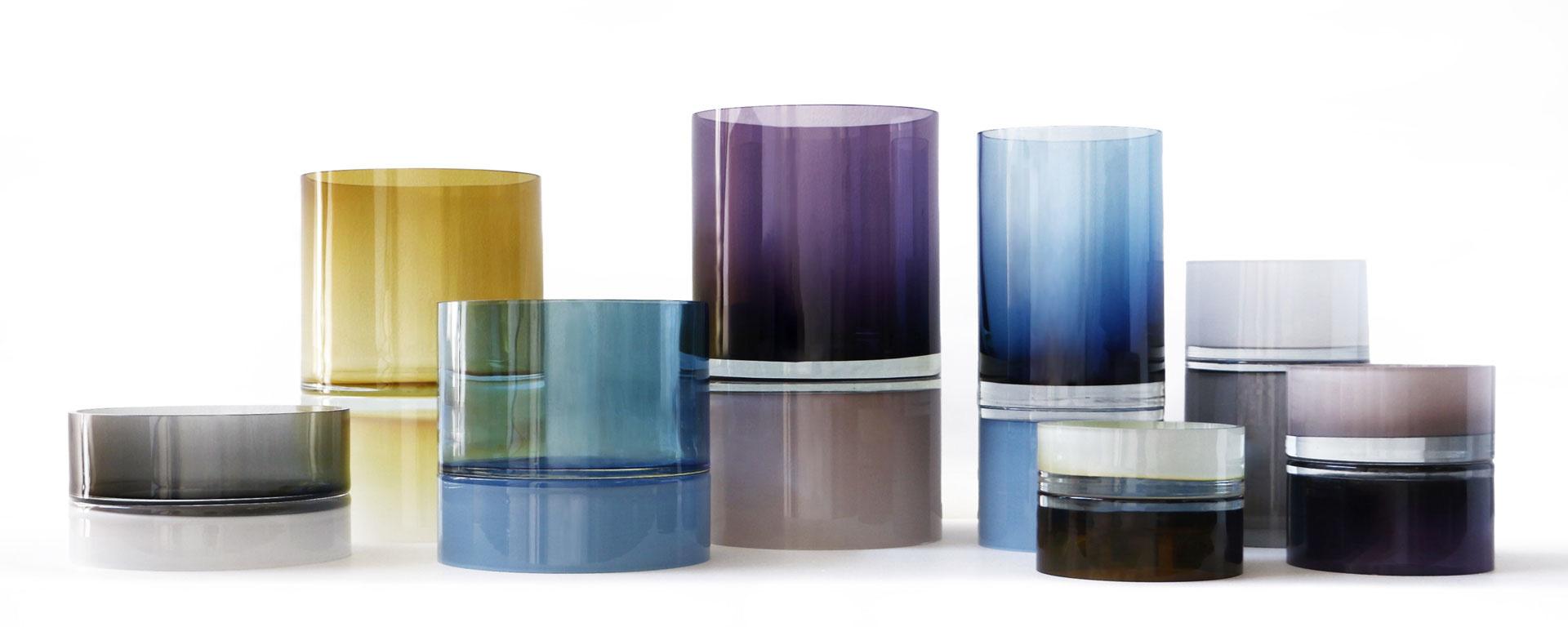 """Pair Vessel - Purple Palette 15"""" x 6.5"""" Dia"""